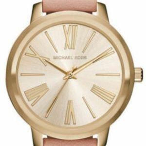 Michael Kors Women's Hartman Gold-tone Blush Watch